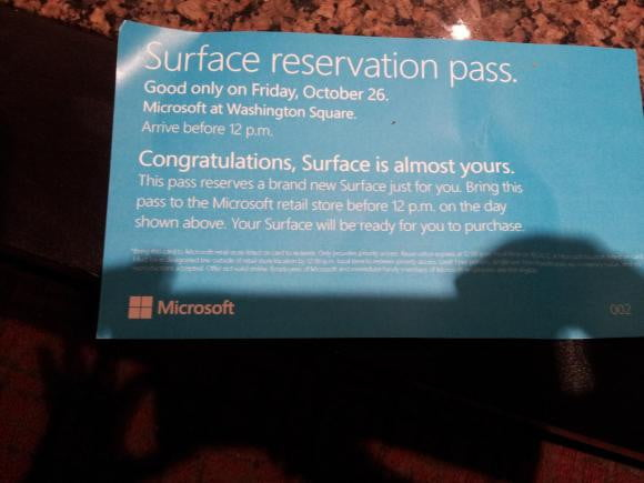 microsoft stores have stashes of vouchers for the surface rt tablet