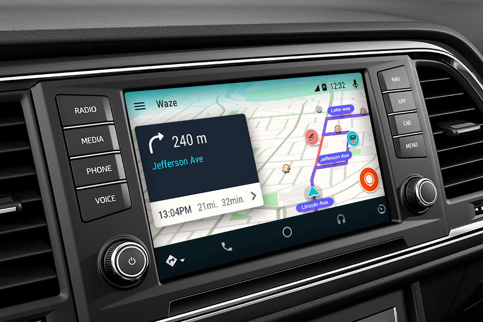 waze arrives on android auto 1