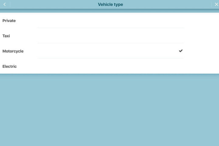 Waze Vehicle Type