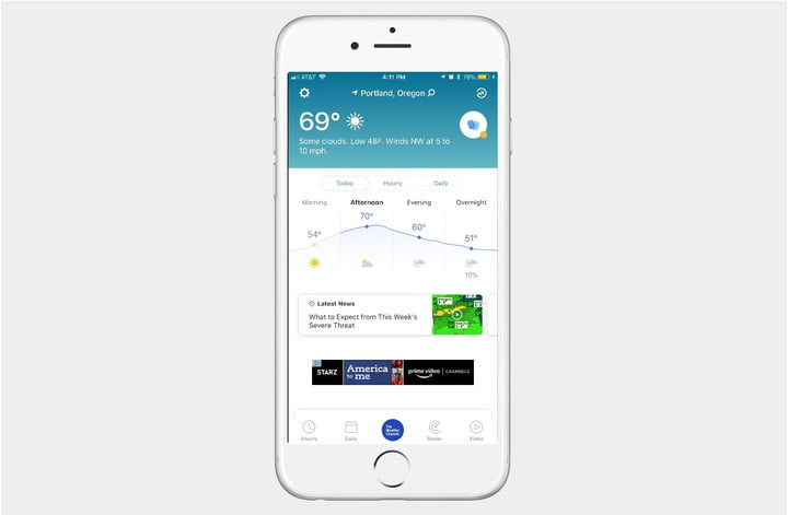 best weather apps for iphone channel screenshot