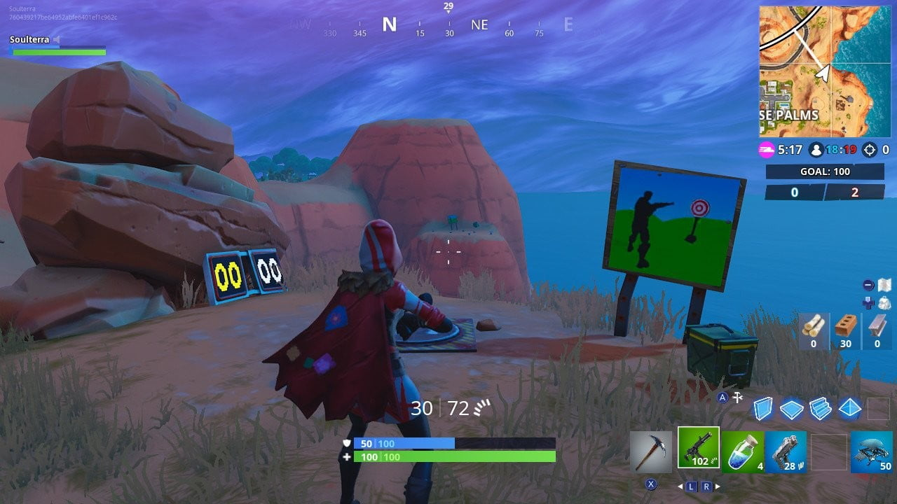 fortnite season 7 week 10 challenge guide score 5 or more at the shooting gallery - fortnite aim assist not working