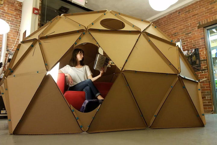 How to Build a Geodesic Dome out of Cardboard | Digital Trends