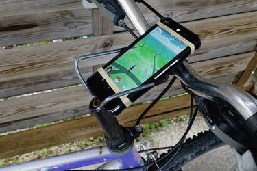 Bicycle Phone Mount >> How To Build A Diy Bicycle Smartphone Mount For Pokemon Go Digital