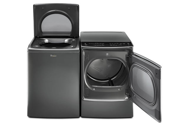 whirlpools smart appliances work with nest and amazon dash whirlpool advantage laundry paire p150355 16z