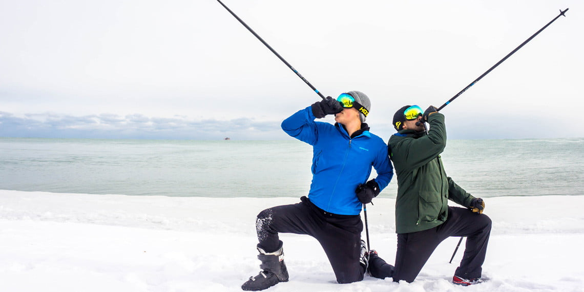 Awesome Tech You Can't Buy Yet: boozed-filled ski poles and crypto piggy banks