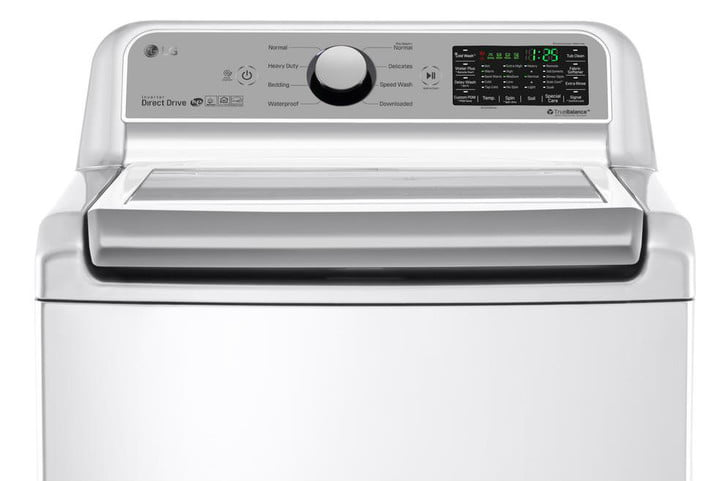 best top load washer white lg electronics smart washers dryers wt7200cw 40 1000