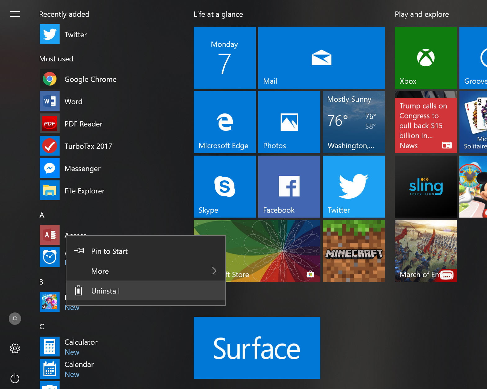 Windows 10 Preview Lets Users Remove Pre-Installed Microsoft