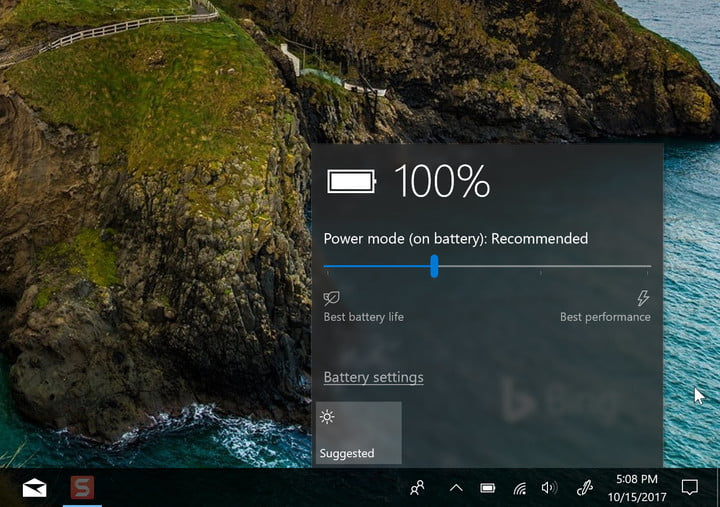 fall creators update review windows 10 battery flyover
