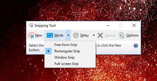 how to take a screenshot on pc windows 10 snipping tool