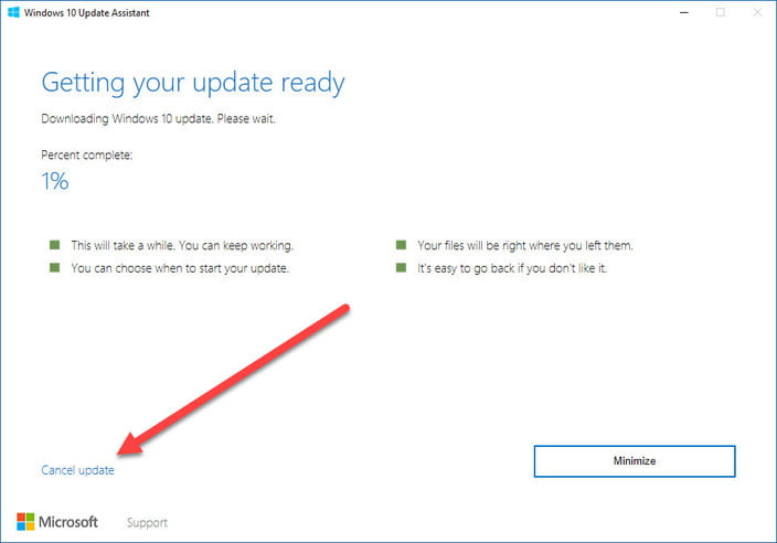 windows 10 creators update early access assistant getting ready