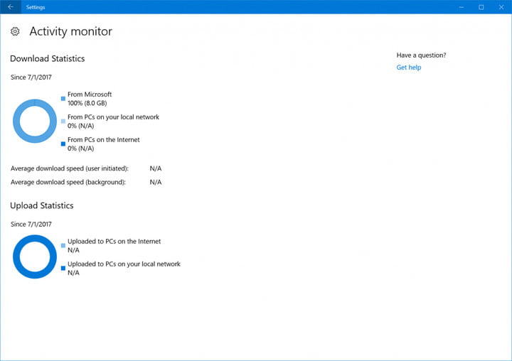 windows insider build 16241 released download optimization activity monitor