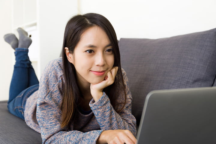 netflix offline viewing woman watching movies and tv on laptop