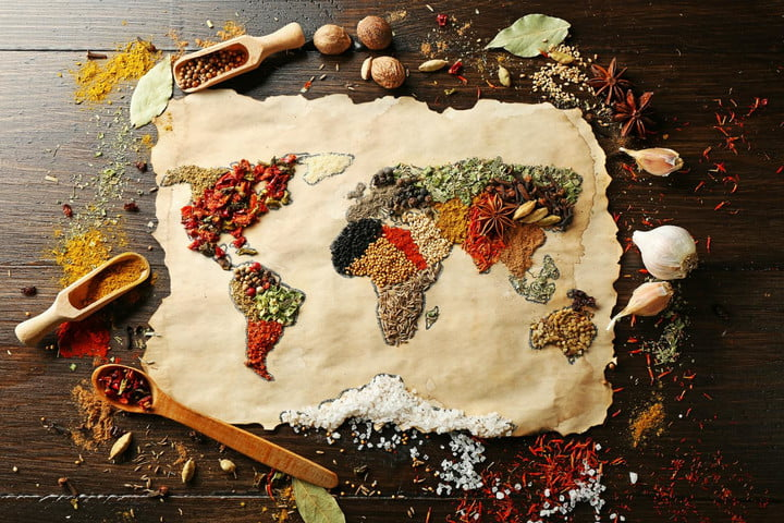 Gfks cooking survey shows countries that cook the most digital trends home cooking worldwide survey world map made of food gumiabroncs Gallery