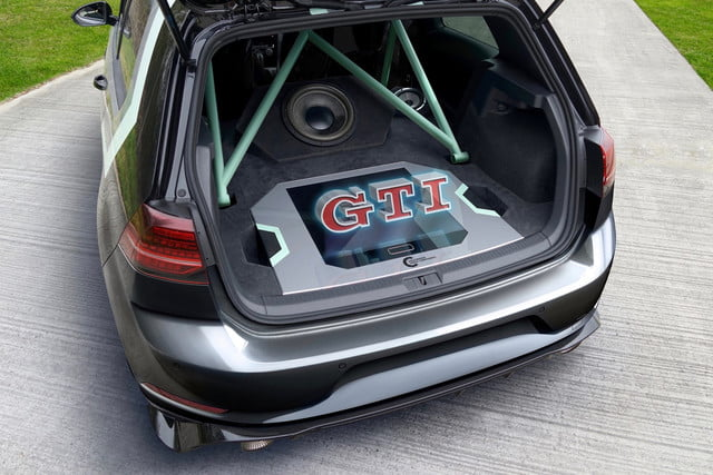 This tuned Volkswagen Golf GTI sports a hologram-controlled audio system