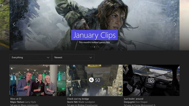 xbox one february update improves parties adds gamerscore leaderboards febraury landing page
