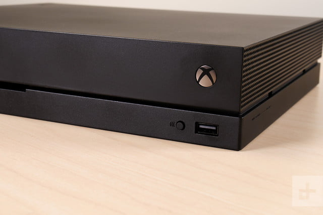 Xbox One X review logo
