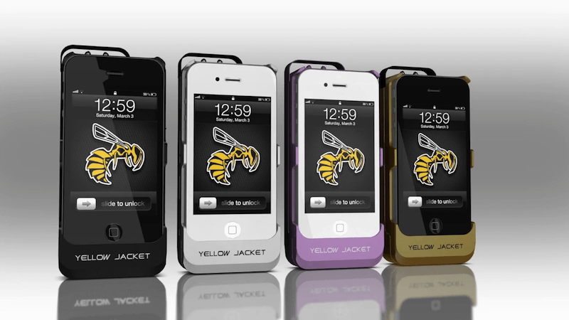 iphone stun gun yellow jacket the iphone that doubles as a stun gun 12357