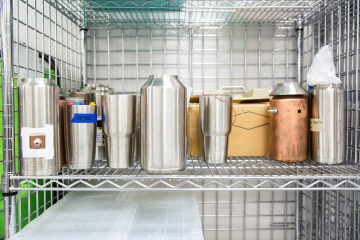Yeti Innovation Center metal containers