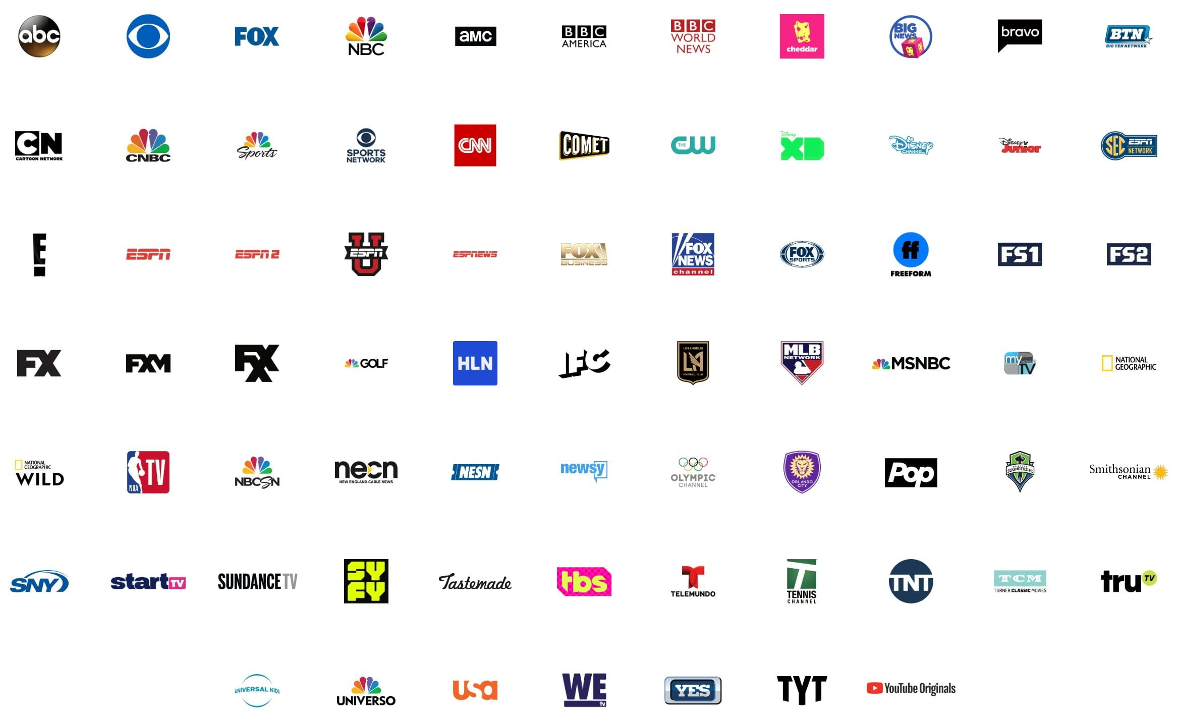 what is youtube tv channels october 2018