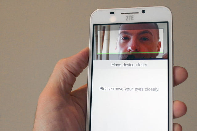 how retinal scanning works in ztes grand s3 zte facial recognition