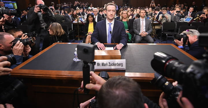 Image result for photo of mark zuckerberg in front of congressional committee